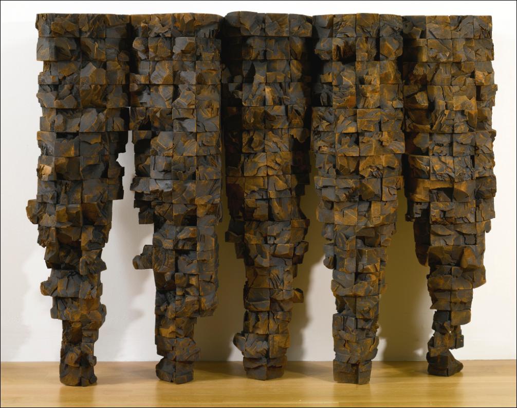 Ursula von Rydingsvard, Five Cones, 1988. Image from Sotheby's.
