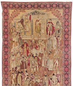 Fine Kirman Famous Leaders of the World Rug, Persia, last quarter 19th century