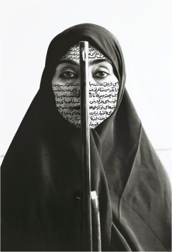 Shirin Neshat, Rebellious Silence (from the 'Women of Allah' series), 1994. Image from Sotheby's.