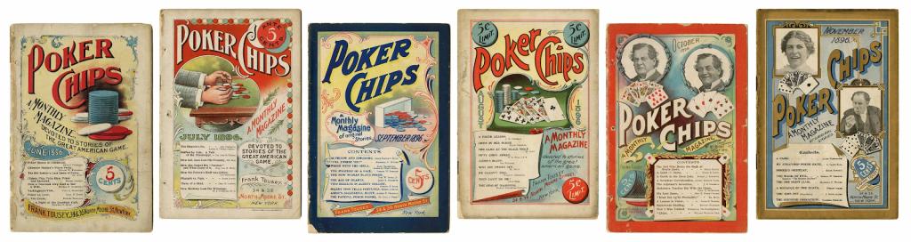 Complete file of Poker Chips magazine. Photo courtesy of Potter & Potter.