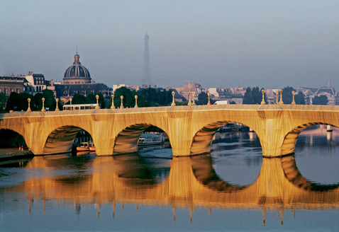 Christo and Jeanne-Claude. The Pont Neuf Wrapped, Project for Paris. Image from Christo and Jeanne-Claude's website.