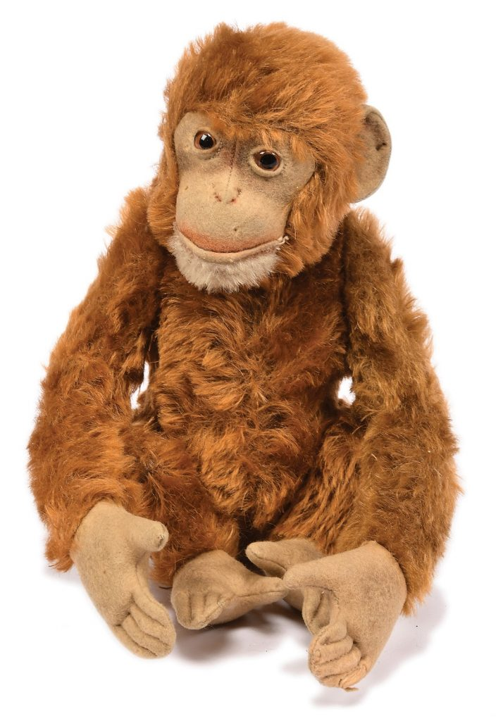 This Steiff Jocko monkey was among the highlights from 2019's Doll and Teddy Bear sale. Photo courtesy of Vectis Auctions.