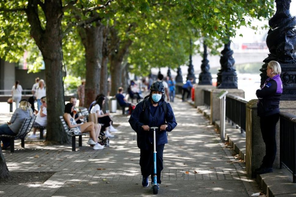 London's South Bank during the Coronavirus pandemic. Photo by Henry Nicholls (Reuters).