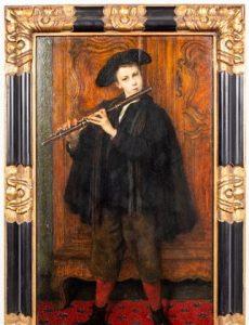Cesare Auguste Detti Musician Oil on Panel