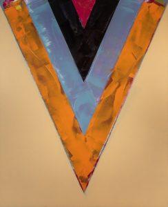 Sand Glass, 1983, acrylic on canvas by Kenneth Noland.