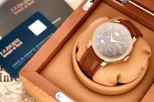 F. P. Journe Automatique Lune Havana AL2 A pink gold automatic wristwatch