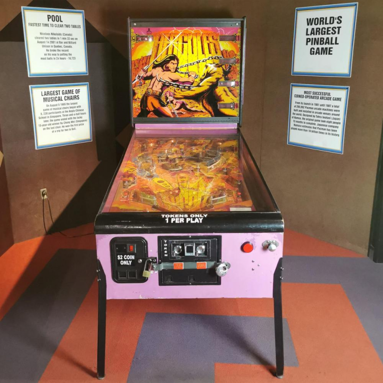 Atari Hercules coin-op pinball game from the Guinness World Records Museum. Image from Ripley Auctions.