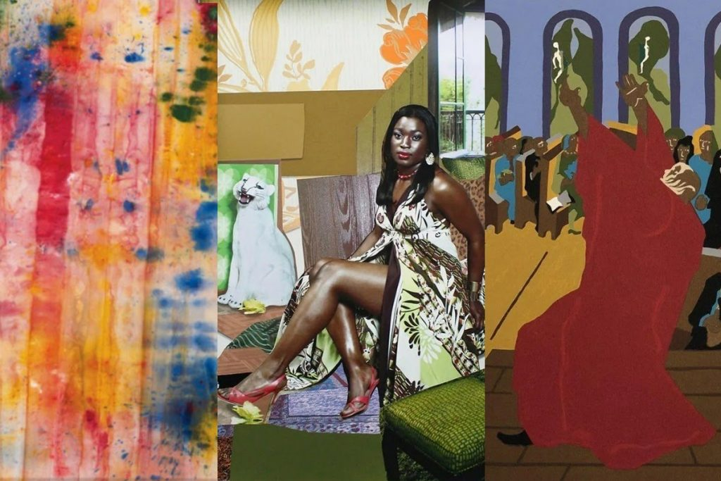 Collage of images from around the auction world. Photo credit from left to right: Christie's, Rare Posters, Black River Auction. Collage by Pranit Dubey (Auction Daily).