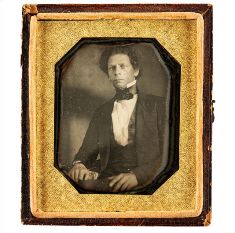 Sixth plate daguerreotype of Joseph Jenkins Roberts (c. 1840s). Image courtesy of Cowan's Auctions.