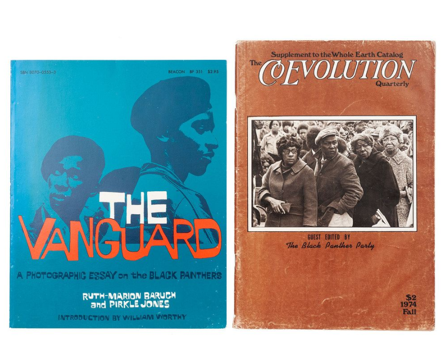 Assorted newsletters, magazines, and broadsides related to the Black Panther Party. Image courtesy of Cowan's Auctions.