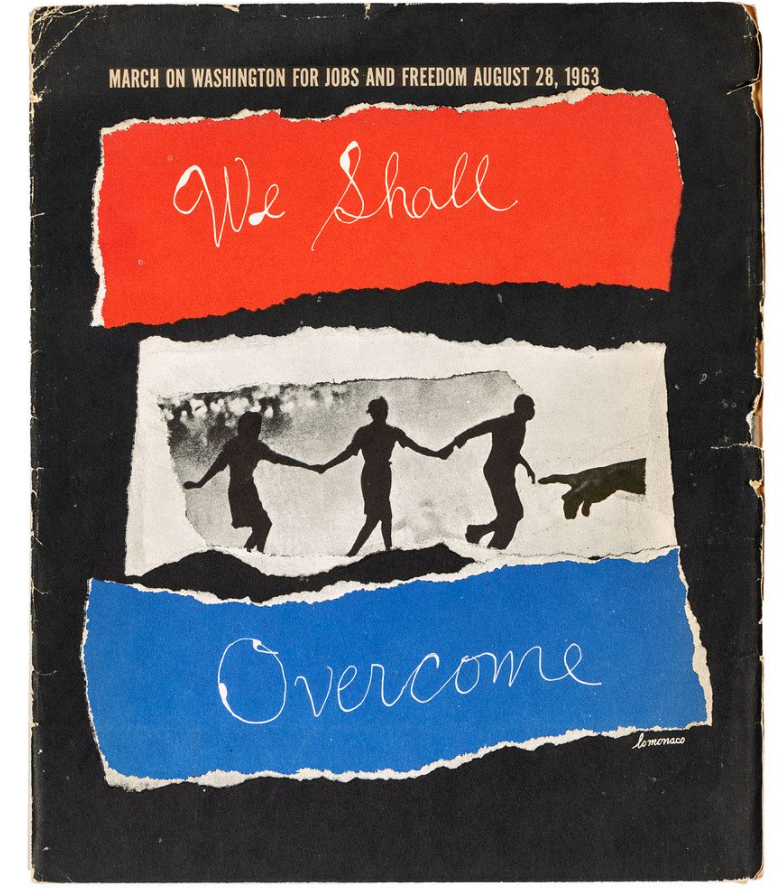 Collage prints for the March on Washington for Jobs and Freedom [August 28, 1963]. Image courtesy of Cowan's Auctions.