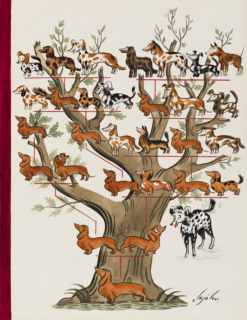 Constantin Alajalov, Family Tree, cover illustration for The New Yorker, watercolor and gouache, 1938. Sold for $11,875.