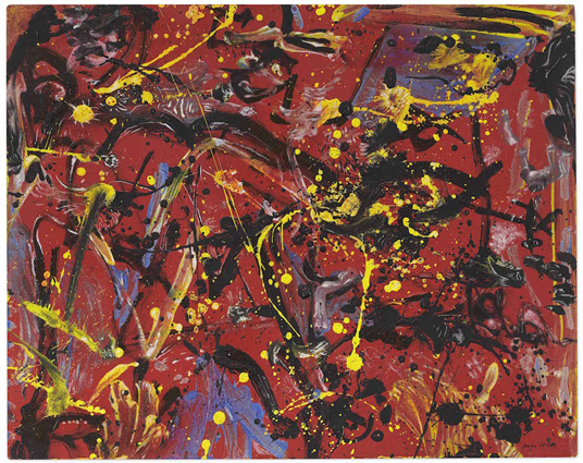 Jackson Pollock, Red Composition, 1946. Image from Christie's.