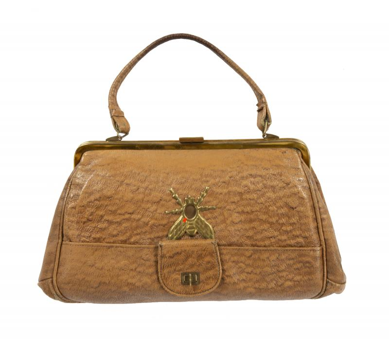 Soviet KGB spy purse with hidden camera. Photo courtesy of Julien's Auctions.