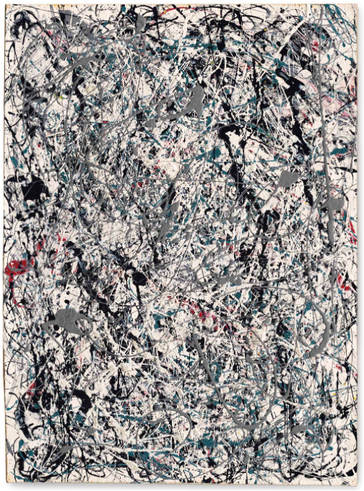 Jackson Pollock, Number 19, 1948. Image from Christie's.