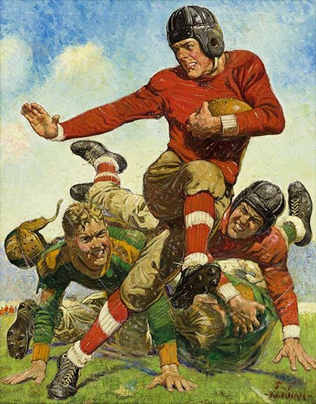 Joseph F. Kernan, College Football, cover of The Saturday Evening Post, oil on canvas, 1932. Sold for $75,000, a record for the artist.