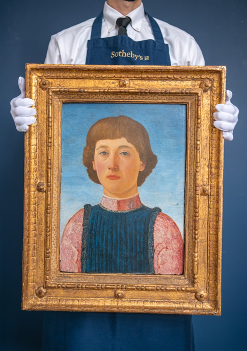 Piero del Pollaiuolo, Portrait of a Youth. Image from Sotheby's.