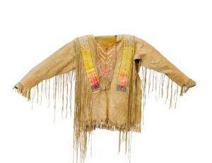 A Fort Berthold Man's Quilled Shirt, Associated With White Swan, Sap-ut-ka-low-nee (1844-1936), Also Known As Poker Jim