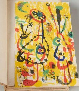 Joan Miro lithograph, Andre Breton, Humour Noir