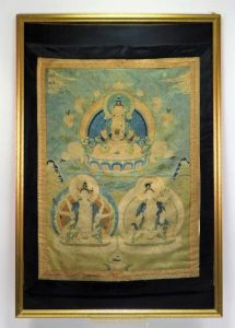 Gorgeous Chinese Qing Dynasty Or Earlier Embroidered Tapestry In A Frame Knocks Down For $12,500 In A Bruneau & Co. Auction Held Jan. 28th