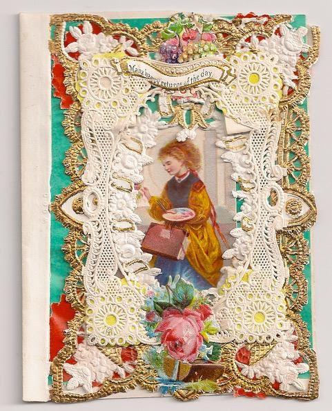 Esther Howland circa 1850 valentine. Photo courtesy of Nancy Rosin.