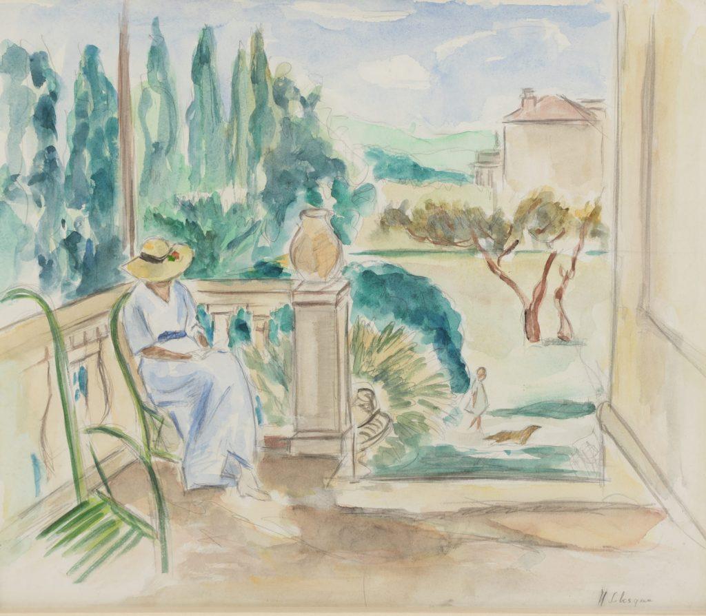 Henri Lebasque (French, 1865-1937), Woman Reading, Watercolor on Paper, c. 1910 r. $4,000, est. $8,000-12,000