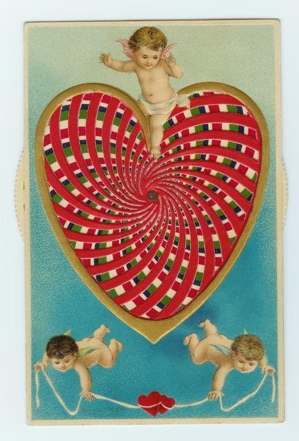 Mechanical heart valentine. Photo courtesy of Nancy Rosin.