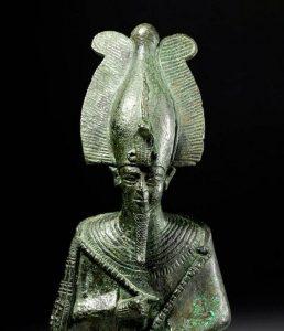 Tall and Impressive Egyptian Bronze Osiris