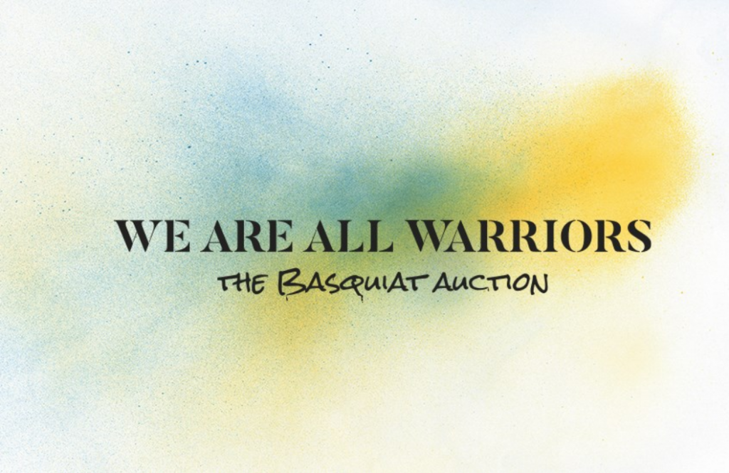 We Are All Warriors – The Basquiat Auction by Christie's Hong Kong Image Source: Christie's
