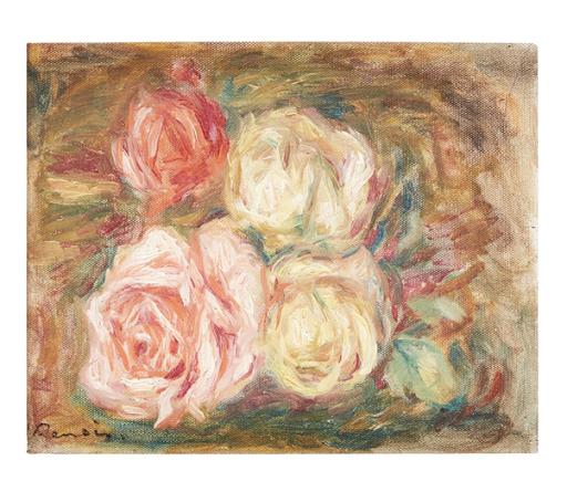 Pierre-Auguste Renoir, Roses, 1917. Image from Freeman's.