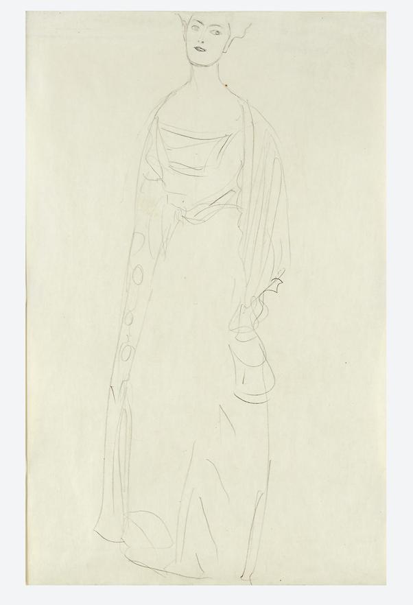 Gustav Klimt, Dame Wittgenstein (Study for Bildnis Margaret Stonborough-Wittgenstein), 1904-1905. Image from Freeman's.