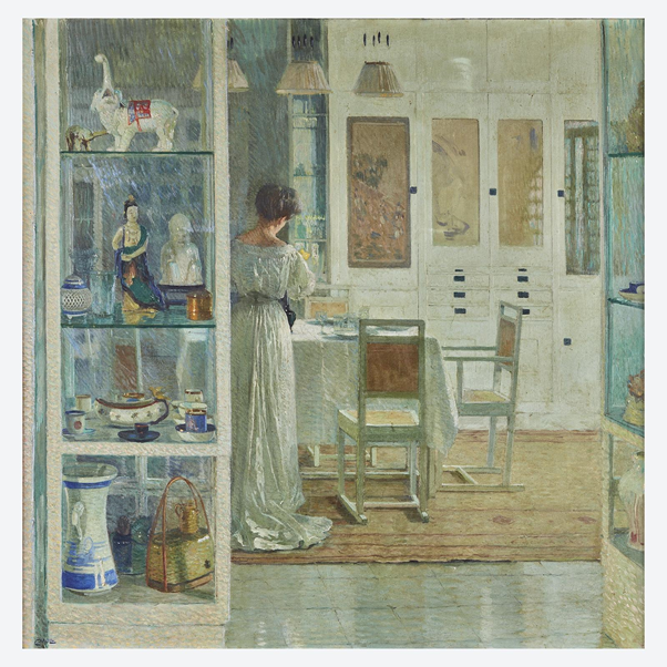 Carl Moll, Weißes Interieur (White Interior), 1905. Image from Freeman's.
