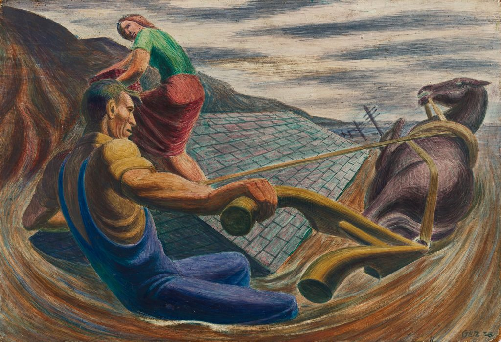 Arthur Getz, Untitled (WPA Practice Piece), casein and tempera, 1938. Sold for $10,625, a record for the artist.