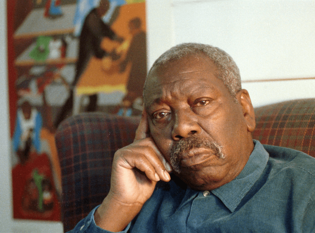 Jacob Lawrence in 1991. Image from Robert Sorbo©️AP/Shutterstock.