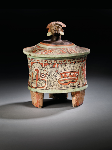 Mayan Tripod Vessel, circa 250-450 C.E. Image from Christie's.