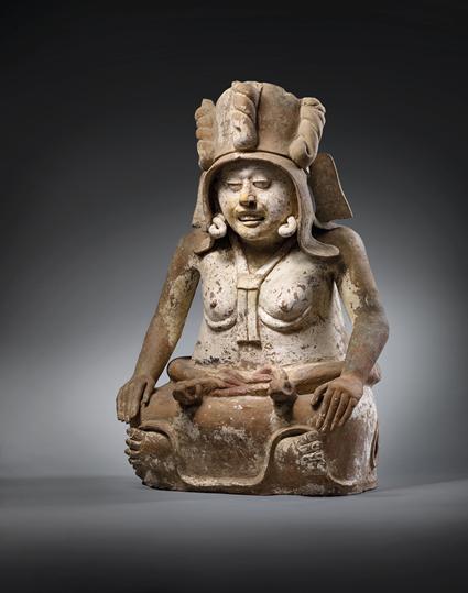 Veracruz sculpture of Cihuateotl, circa 600-1000 C.E. Image from Christie's.