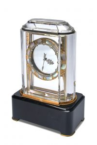 CARTIER, ART DECO ROCK CRYSTAL, GOLD, AGATE, ENAMEL, MOTHER-OF-PEARL, ONYX AND DIAMOND-SET 'MYSTERY CLOCK', PENDULE MYSTERIEUSE 'MODEL A'