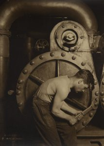 Lewis Wickes Hine (1874–1940) Mechanic and Steam Pump, 1921