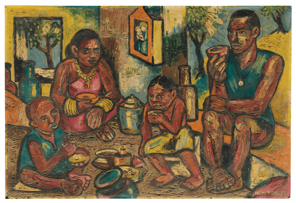 Francis Newton Souza, Family, 1946. Image from Christie's.