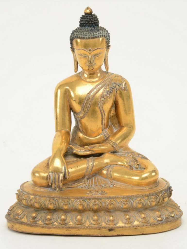 Gilt bronze Buddha. Photo courtesy of Tremont Auctions.