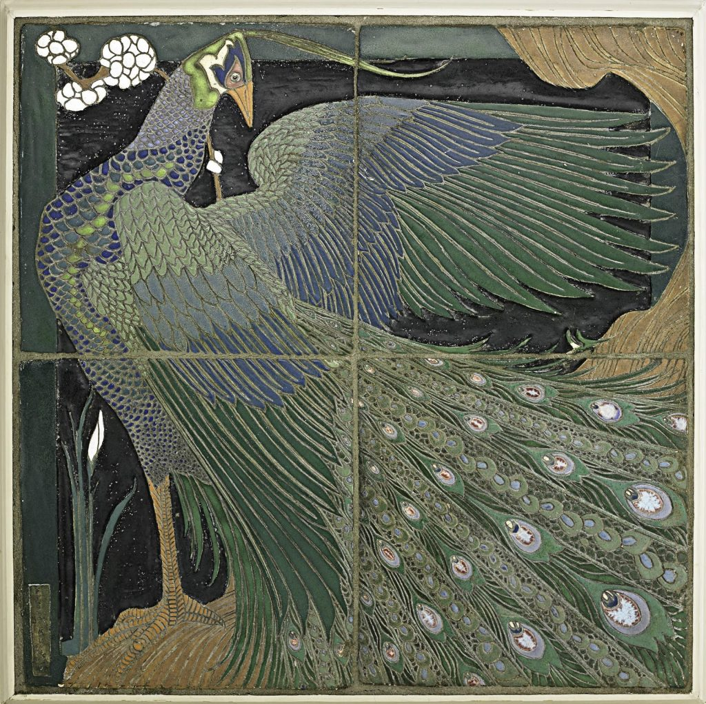 Frederick Rhead tiles which realized over $650,000 at a Rago auction in 2012. Photo courtesy of Rago Arts and Auction.
