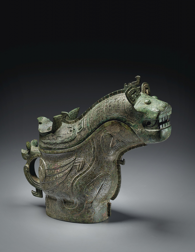 """Late Shang dynasty ritual vessel (the """"Luboshez gong""""). Image from Christie's."""