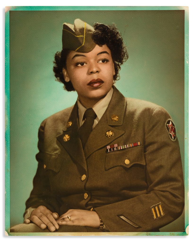 Papers of Margaret P. Simmons of the Women's Army Corps., circa 1939–93. Estimate $800 to $1,200.