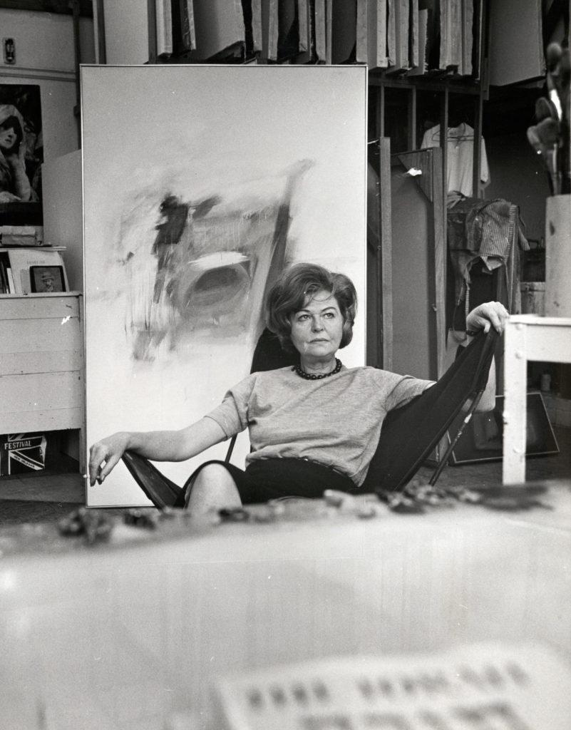 Ida Kohlmeyer in her studio. Image from the Howard-Tilton Memorial Library, Tulane University.