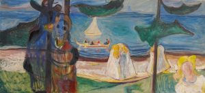 Edvard Munch Summer Day or Embrace on the Beach (The Linde Frieze)