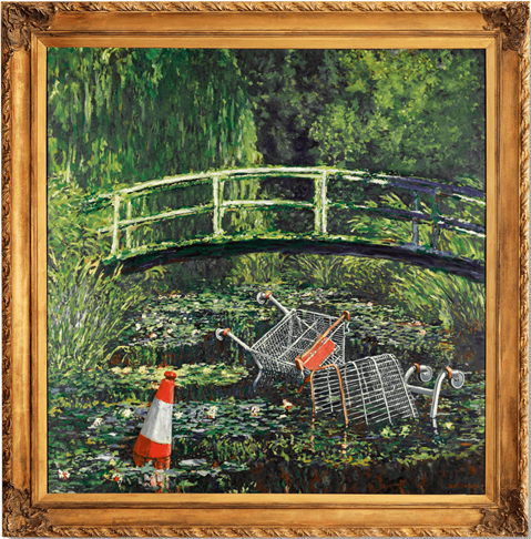 Banksy, Show Me the Monet. Image from Sotheby's.