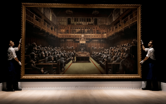 Banksy, Devolved Parliament. Image from Sotheby's.