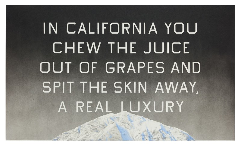 Ed Ruscha, California Grape Skins. Image from Sotheby's.