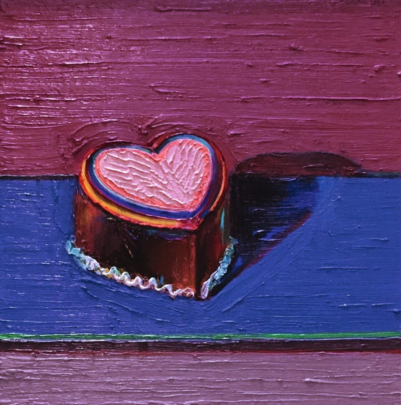 Wayne Thiebaud, Dark Heart Cake. Image from Sotheby's.