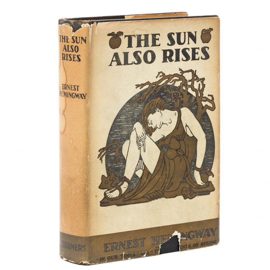 Ernest Hemingway, The Sun Also Rises, first edition, first issue in the original first-issue dust jacket, New York, 1926. Sold for $32,500.